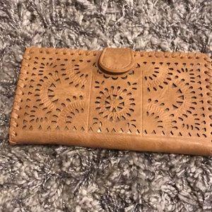 Tan Clutch wallet